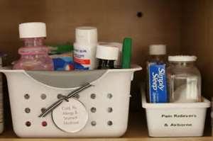 basket of medication