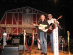 Emmylou Harris and me on stage at the Grand Ole Opry