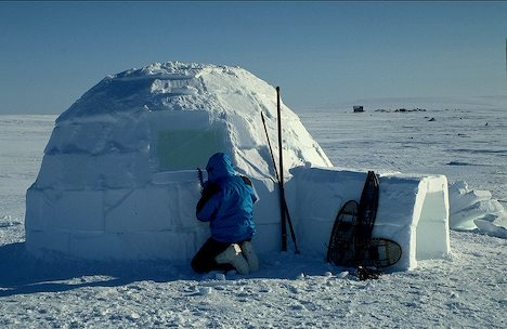 Alaska. A traditional Inupiat Eskimo igloo four miles south of Nome.
