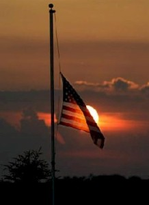 Night time half staff